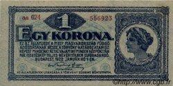 1 Korona HONGRIE  1920 P.057 TTB+