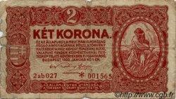 2 Korona HONGRIE  1920 P.058 AB