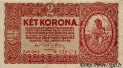 2 Korona HONGRIE  1920 P.058 TTB