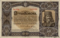 50 Korona HONGRIE  1920 P.062 TTB