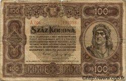 100 Korona HONGRIE  1920 P.063 B
