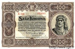 100 Korona HONGRIE  1920 P.063 SPL