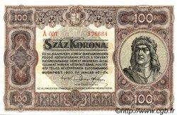100 Korona HONGRIE  1920 P.063 pr.NEUF