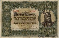 500 Korona HONGRIE  1920 P.065 TB