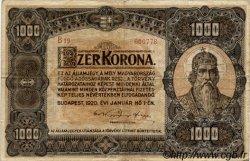1000 Korona HONGRIE  1920 P.066a TB