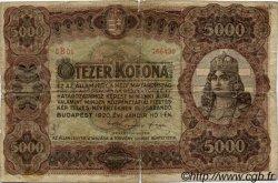 5000 Korona HONGRIE  1920 P.067 B