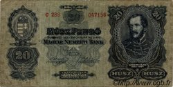 20 Pengö HONGRIE  1930 P.097 TB+
