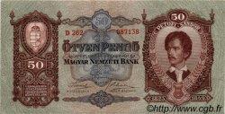50 Pengö HONGRIE  1932 P.099 SPL