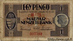 1 Pengö HONGRIE  1938 P.101 B à TB