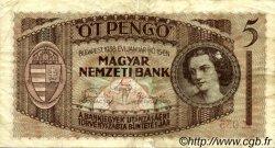 5 Pengö HONGRIE  1938 P.104 TB+