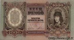 1000 Pengö HONGRIE  1943 P.116 pr.NEUF