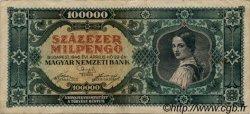 100000 Milpengö HONGRIE  1946 P.127 TB