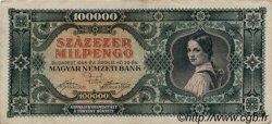 100000 Milpengö HONGRIE  1946 P.127 TTB