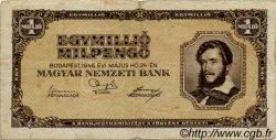 1000000 Milpengö HONGRIE  1946 P.128 TB