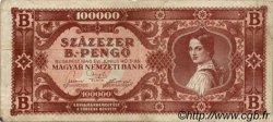 100000 B-Pengö HONGRIE  1946 P.133 B+