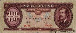 100 Forint HONGRIE  1957 P.171a TB