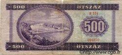 500 Forint HONGRIE  1969 P.172a B à TB