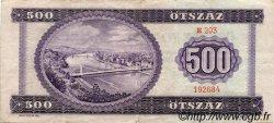 500 Forint HONGRIE  1969 P.172a TB+