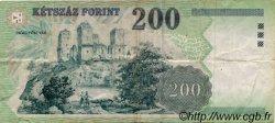 200 Forint HONGRIE  1998 P.178 TB+