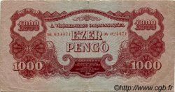 1000 Pengö HONGRIE  1944 P.M9 pr.TTB