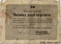 30 Pengö Krajczar HONGRIE  1849 PS.122 B+