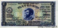 2 Thalers ÉTHIOPIE  1933 P.06 pr.NEUF
