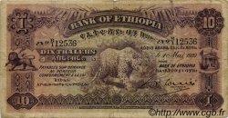 10 Thalers ÉTHIOPIE  1932 P.08 B à TB