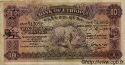 10 Thalers ÉTHIOPIE  1932 P.08 TB