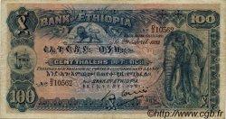 100 Thalers ÉTHIOPIE  1933 P.10 TB