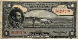 1 Dollar ÉTHIOPIE  1945 P.12c TB
