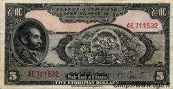 5 Dollars ÉTHIOPIE  1945 P.13b TTB