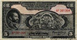 5 Dollars ÉTHIOPIE  1945 P.13c