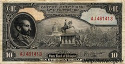 10 Dollars ÉTHIOPIE  1945 P.14b TB