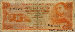 5 Dollars ÉTHIOPIE  1961 P.19a B