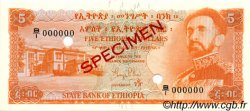 5 Dollars ÉTHIOPIE  1961 P.19s NEUF