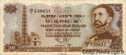 20 Dollars ÉTHIOPIE  1961 P.21a TB+