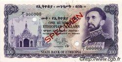 100 Dollars ÉTHIOPIE  1961 P.23s NEUF