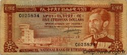 5 Dollars ÉTHIOPIE  1966 P.26a TB