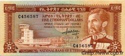 5 Dollars ÉTHIOPIE  1966 P.26a pr.SPL