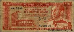 10 Dollars ÉTHIOPIE  1966 P.27a B