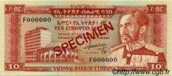 10 Dollars ÉTHIOPIE  1966 P.27s SPL