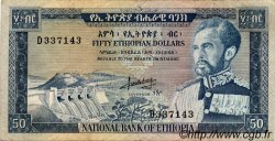 50 Dollars ÉTHIOPIE  1966 P.28a TB à TTB