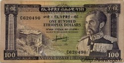 100 Dollars ÉTHIOPIE  1966 P.29a TB