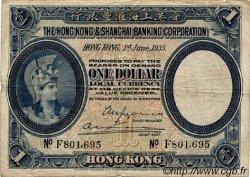 1 Dollar HONG KONG  1935 P.172c B+ à TB