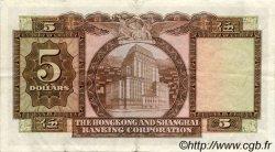 5 Dollars HONG KONG  1967 P.181c TTB+