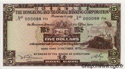 5 Dollars HONG KONG  1973 P.181f pr.NEUF