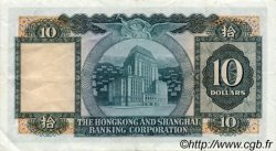 10 Dollars HONG KONG  1973 P.182g SUP