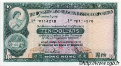 10 Dollars HONG KONG  1978 P.182h pr.NEUF