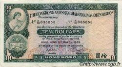 10 Dollars HONG KONG  1982 P.182j TTB