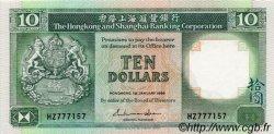 10 Dollars HONG KONG  1986 P.191a pr.NEUF